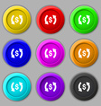 Exchange icon sign symbol on nine round colourful vector image vector image