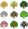 Fantasy trees vector image