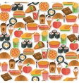 Fast food icon seamless vector image