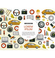 flat car service icons pattern poster vector image vector image