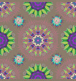 Floral pattern in doodle style with flowers and