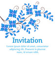 flowers invitation or wedding card vector image vector image