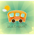Fun Bus Travel card vector image vector image