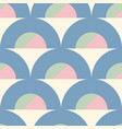 geometric circular shapes color block vector image vector image