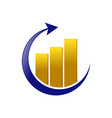 golden global marketing statistic symbol design vector image