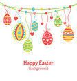 hanging colorful ornate eggs and heart vector image