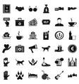 helping icons set simple style vector image vector image