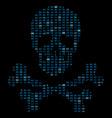 hi tech crossbones death skull danger sign from vector image