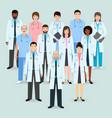 hospital staff group of twelve men and women vector image vector image