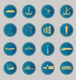 Industrial and logistic blue icons vector image vector image