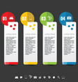 infographic with icon set on dark background vector image vector image