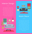 interior design and room decor vector image vector image