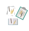 Isolated document and pencil design vector image vector image