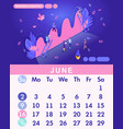 isometric month june from set calendar of 2019 vector image vector image