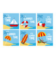 its summer time cards collection vector image