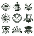 kitchen food cooking cutlery and kitchenware vector image