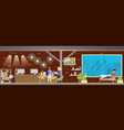 loft coworking openspace panoramic view vector image