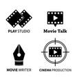 logotype cinema movie icons set vector image vector image