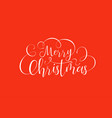 merry christmas calligraphy text quote background vector image vector image