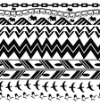Monochrome seamless texture in tribal style vector image vector image