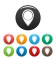 navigation mark icons set color vector image vector image