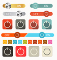 On Off Symbols Set Isolated on White Background vector image vector image