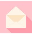 Open envelope over light pink vector image vector image