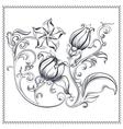 Ornate vintage floral ornament vector image vector image