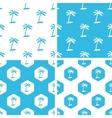 Palm tree patterns set vector image