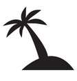 palm trees icon pictograph island vector image vector image