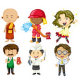 People doing different jobs vector image