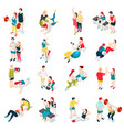 personal trainer sport icons vector image
