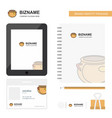 pot business logo tab app diary pvc employee card vector image vector image