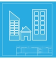 Real estate sign White section of icon on vector image