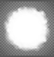 round frame from clouds white abstract smoke vector image