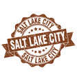 salt lake city round ribbon seal vector image vector image