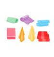 set cartoon towel for spa bathroom kitchen vector image