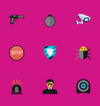 set of 9 editable procuring flat icons includes vector image