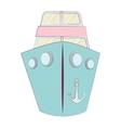 ship boat cruise isolated icon vector image