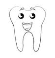 sketch draw tooth cartoon vector image vector image