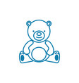 teddy bear linear icon concept teddy bear line vector image