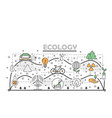 thin line art ecology poster banner vector image
