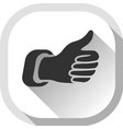thumb up gray button vector image