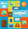 travel concept traveling background vector image