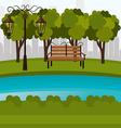 Urban park design vector image vector image