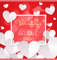 valentines day sale red background calligraphy vector image vector image