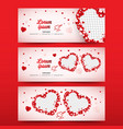 valentines day social media banner cover vector image vector image
