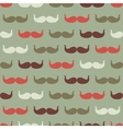 Vintage seamless pattern with mustache vector image