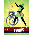 woman's tennis poster vector image