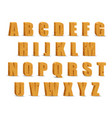 wooden alphabet blocks with shadow vector image vector image